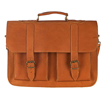 MENS MESSENGER BAG from 100 % Full Grain Leather in 5 colors