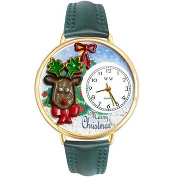 Christmas Reindeer Watch in Gold (Large)
