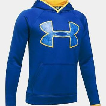 Under Armour 2018 Boys UA Storm Fleece Big Logo Hoodie Hooded Sweatshirt Hoody