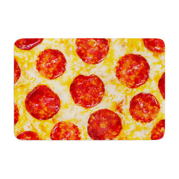 "KESS Original ""Pizza My Heart"" Pepperoni Cheese Memory Foam Bath Mat"