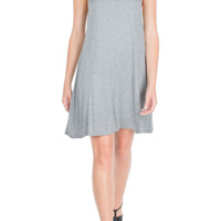 Gray Basic Dress-FINAL SALE