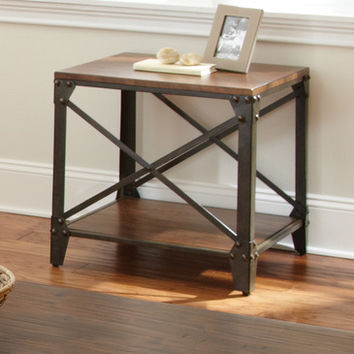 Steve Silver Winston Square End Table in Distressed Tobacco
