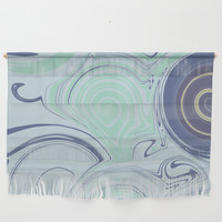 Spiraling Blue Wall Hanging by sm0w