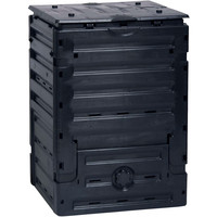 Uv Resistant 80-Gallon Composting Bin With Easy Access Bottom Compost Door