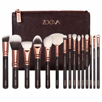 ZOEVA 15 PCS ROSE GOLDEN COMPLETE MAKEUP BRUSH SET Professional Luxury Set Make Up Tools Kit Powder Blending brushes