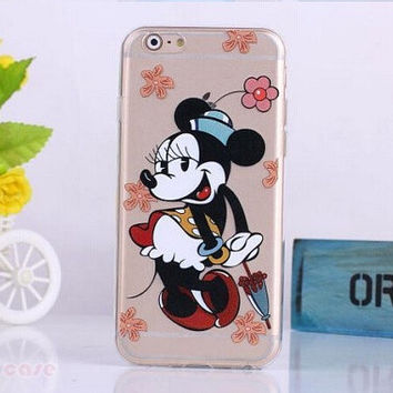 Minnie Mouse SELFIE clear cell phone case for iPhone 6  NEW