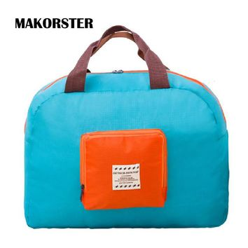 MAKORSTER Fashion Famous Brands Women travel bags Student Nylon weekend duffle bag luggage travel bag handbags XH232
