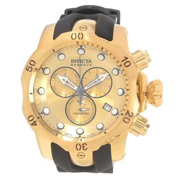 Invicta 16985 Men's Venom Quartz Chronograph Gold Dial Rubber Strap Dive Watch