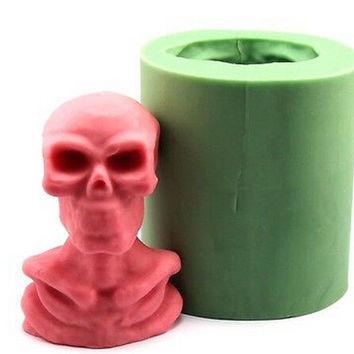 Halloween Skull Funny Silicone Candle Molds Resin Clay Crafts Mould