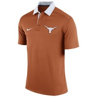 Nike Texas Longhorns Elite Coaches Dri-FIT Performance Polo
