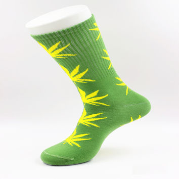 Weed Plant Style HIP HOP Harajuku Chaussette Calcetines Men Women's Socks Winter Long Cotton Socks