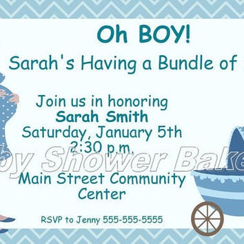 Boy Baby Shower Invitation, Baby Shower Invitation for Boy, Printable Baby Shower Invitation, Printable Baby Boy Shower Invitation