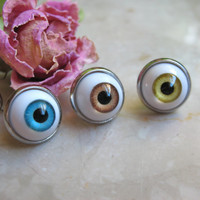 Human EyeBall Hipster earring Halloween Jewelry