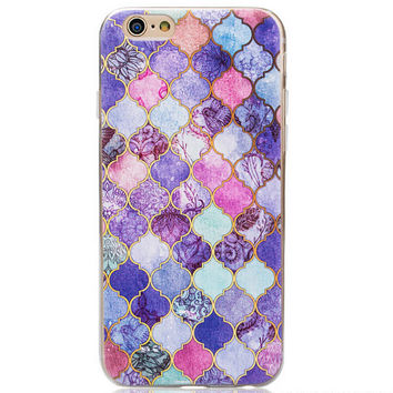 Purple Unique Marble Grain Cool Case for iPhone