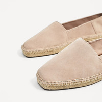 LEATHER ESPADRILLES DETAILS