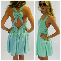 Deerfield Mint Cross Back Dress