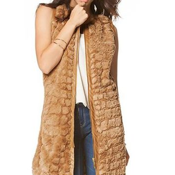 Faux Fur Coat Vest
