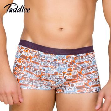 Men's Two Pack Modal Elastic Waist Multi-Color Boxer Briefs