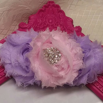 Fancy Pink and Purple Headband