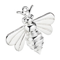 Silver Honey Bee Charm by Altruette - Honey Bee Research Fund