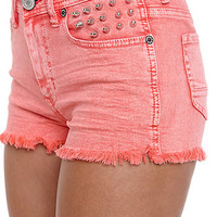 Kendall & Kylie High Rise Fray Acid Shorts at PacSun.com