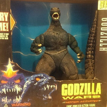 Trendmasters 1995 Godzilla Wars Motion Activated Giant Monster Action Figure