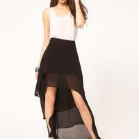 Black Mini Dress - Bqueen Skirt With Tiered Hem | UsTrendy