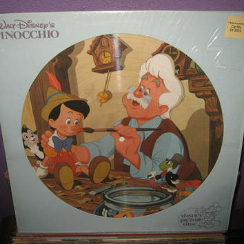Vinyl Record Album Disney Pinocchio Original by JustCoolRecords