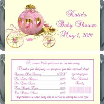 10 Princess Baby Shower Chocolate Bar Wrappers