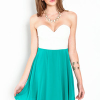 SWEETHEART CHIFFON PLUNGE DRESS