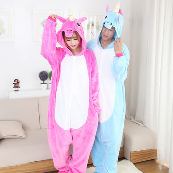 Unisex Blue Red Cartoons Animal Home Sleepwear [6819646215]