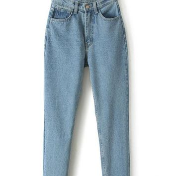 LMFHQ9 High Waist Boyfriend Denim Haroun Jeans