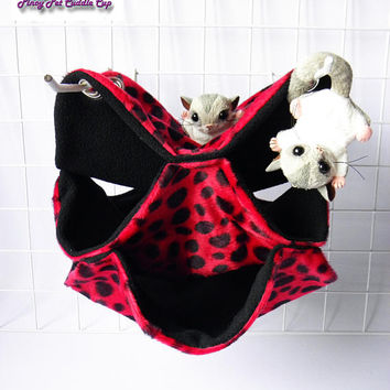 Sugar glider, rat, small animal three layer hammock