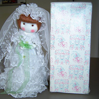 Russ Berrie and Company, Inc. Bride Doll with Brown hair