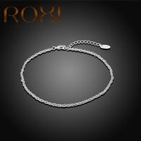 Anklet Bracelet for women beach Yoga Foot Jewelry silver Chain