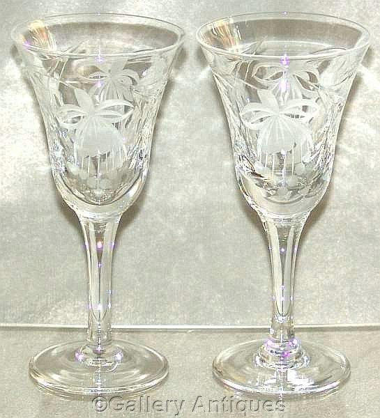 Vintage Pair Of Royal Brierley Fuchsia From Gallery Antiques