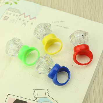 pcs  Glowing  Diamond  Flashing  Finger  Rings  Light