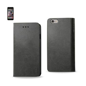 Reiko REIKO IPHONE 6 PLUS FLIP FOLIO CASE WITH CARD HOLDER IN GRAY