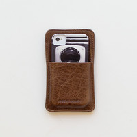 Made in USA Leather iPhone case card holder [Made in Mayhem iPhone Case] : ORN HANSEN, Vintage + American Made General Store