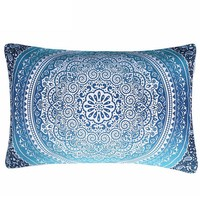 BeddingOutlet Moroccan Pillow Case Crystal Arrays Blue Bedclothes Mandala Printed Pillowcase 1Pc 50x75cm 50x90cm Best