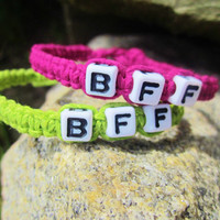BFF Bracelets Custom Hemp Jewelry Best Friends Forever Friendship Bracelets