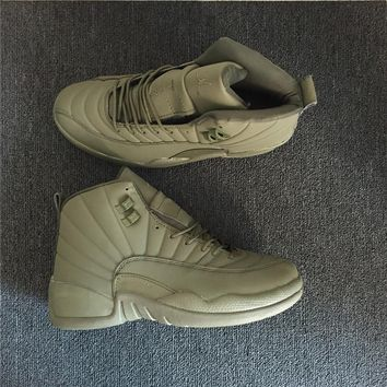 Air Jordan 12 Retro Green Men Basketball Shoes 41-47