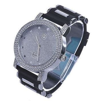 Jewelry Kay style Men's Hip Hop Fashion Silver Plated Black Bullet Band Rapper Watches WR 8462 S