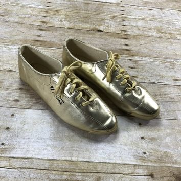 Vintage 1995 LA Gear Gold Shoes Womens Size 8