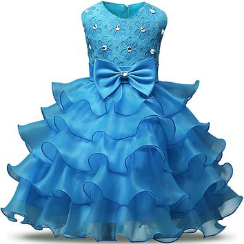 Toddler flower girls dresses summer 2017 birthday princess clothing party girl tutu infant dress kids dresses for girls clothes