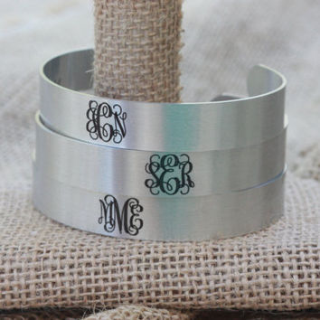 Set of Bridesmaid Gifts ~ Thank You Gifts from the Bride ~ I couldn't say I DO without You Bracelets ~ Cuffs for Gifts ~ Add Your Monogram ~
