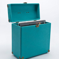 "Crosley 12"" Record Carrier Case in Dark Turquoise - Urban Outfitters"