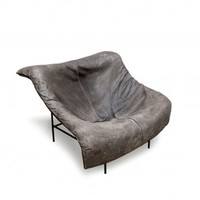 grey leather armchair - Furniture