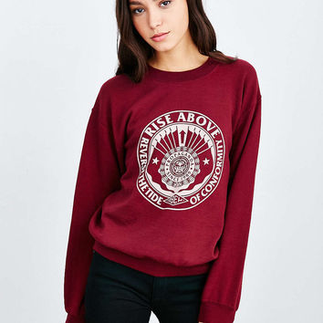 OBEY Reverse Tide Pullover Sweatshirt - Urban Outfitters