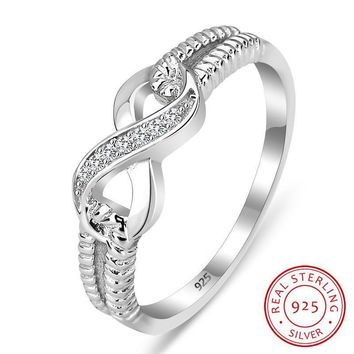 Genuine 925 Sterling Silver Infinite Ring